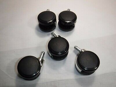 Qty Of 5 Replacement Swivel Office Chair Wheels Casters Universal Fit New