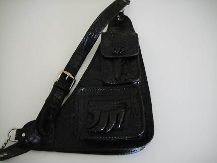 genuine crocodile chest/shoulder bag wallet