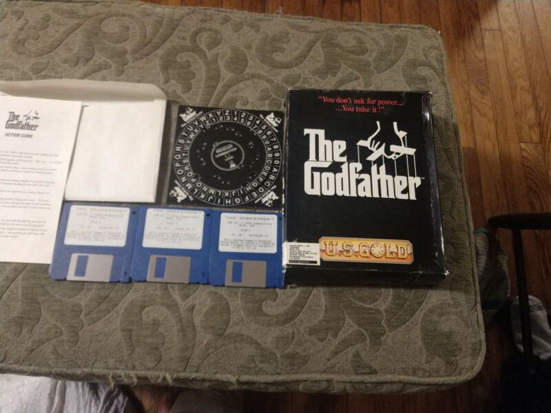 """The Godfather PC IBM 3-3.5"""" disks with box manual wheel not tested"""