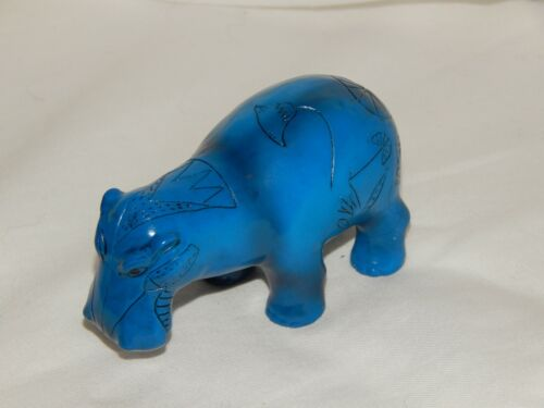 Blue Egyptian Hippo, Replica of Museum Hippo, Wild Animal, Water, Learning Tool