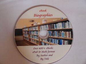 600+ Biography eBooks for Kindle, Kobo Sony Readers etc