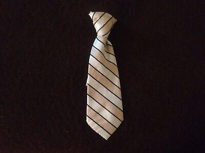 Baby boy necktie blue striped clip-on 6-12 months