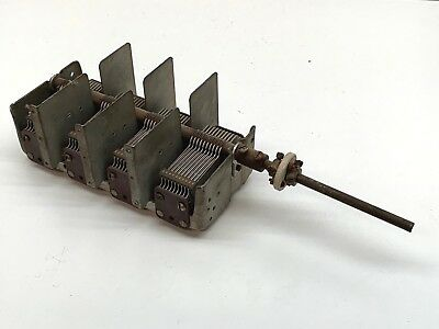 Vintage Muliturn 4-section Variable Capacitor