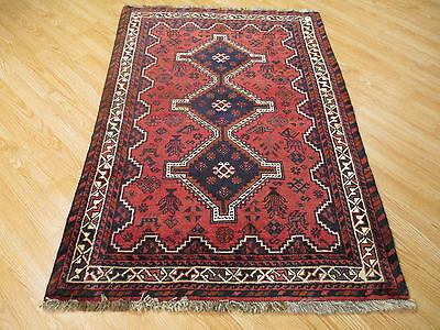 4x5 Rectangle Persian Museum Sirjan Design Handmade knotted Wool Rug 583373