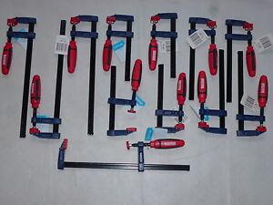 Set 12 Stück Schraubzwingen  SZ 50x 150-200-300mm Kunststoffgriff  Schraubzwinge