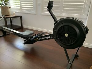 Concept 2 model D rower PM 5 display