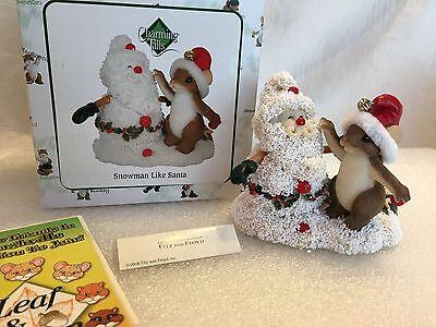 """Charming Tails """"Snowman Like Santa"""" DEAN GRIFF NIB"""