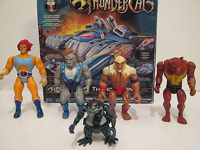 Thundercats Figure Lot Lion-O, Panthro, Jackal, Monkian, Thundertank Vintage 80s