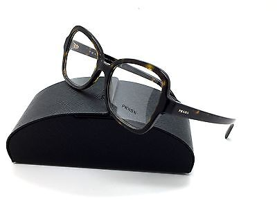 Prada Tortosie Eyeglasses VPR 25S 2AU 1O1 53 mm Havana Italy Demo lens