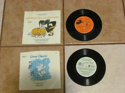 LOT 2 READERS DIGEST OLD WITCH RESCUES HALLOWEEN GHOST CHARLIE RECORDS LP RECORD](Old Witch Rescues Halloween)