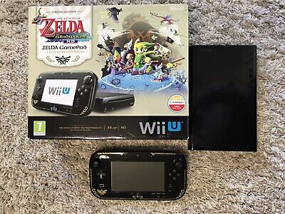 Nintendo Wii U Limited Edition Zelda Windwaker Console Boxed 32gb
