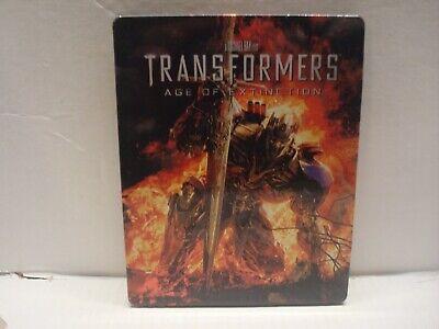 Transformers: Age of Extinction (Blu-ray/DVD, 2014, SteelBook Case) L N