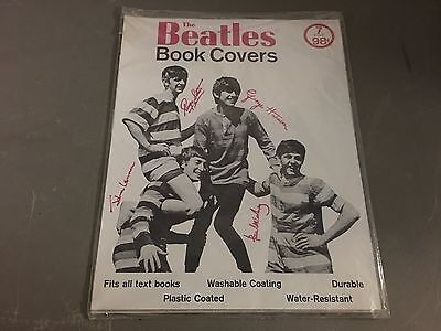 Beatles 1964 Original Vintage Set Of 7 Sealed Book Covers