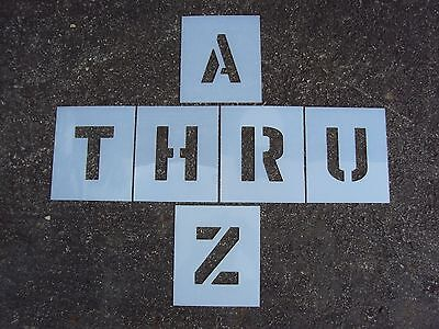 6  X 4  Alphabet Stencils For Parking Lot Striping Playgrounds 60 Mil Thick Ldpe