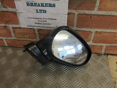 MITSUBISHI FTO 1994 OS DRIVER SIDE ELECTRIC DOOR WING MIRROR BLACK
