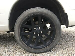 "22"" ram 1500 rims and tires set"