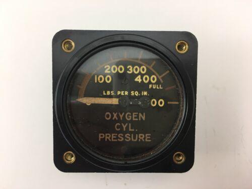 Clapp Instrument CO AN - 1 Oxygen Cylinder Pressure Meter Gauge