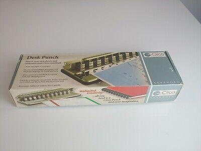 Levenger Circa Desk Punch Ads5250 Binding Adjustable Slide 11 Hole Punch