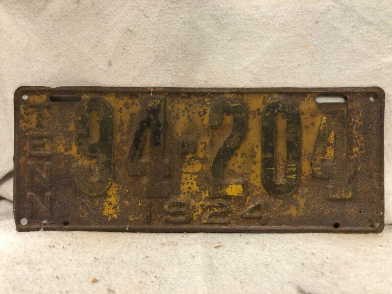 Vintage 1924 Tennessee License Plate