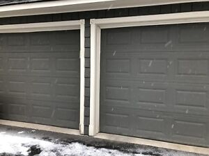 Garage doors and operators for sale.