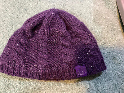 Womens Purple Bula Beanie One Size
