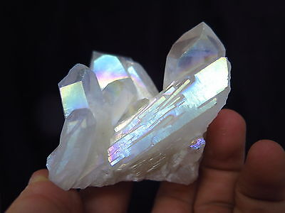 Aura Quarz Kristall/ Rainbow Aura Quartz Crystal - Opal -  158 Gramm