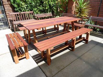 Extra Large Merbau Timber Outdoor Setting 1800x780 New