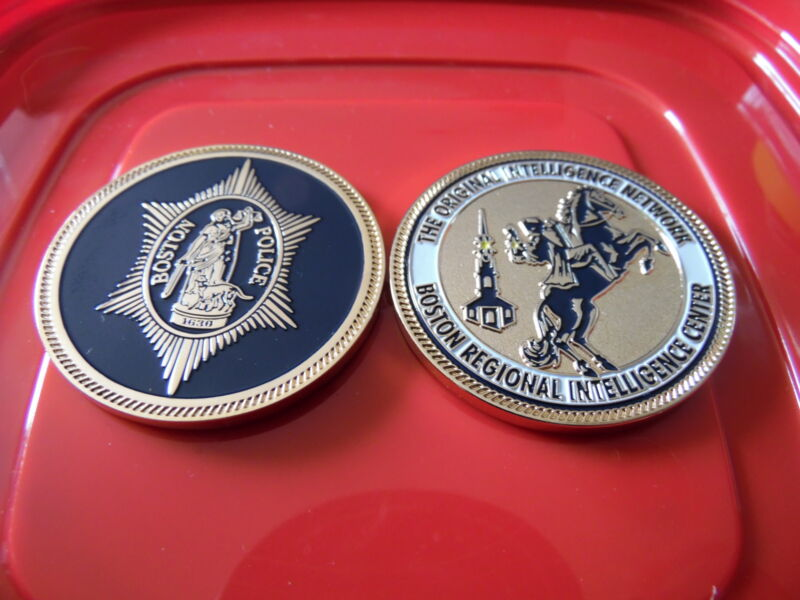Boston Police Regional Intelligence Center Challenge Coin
