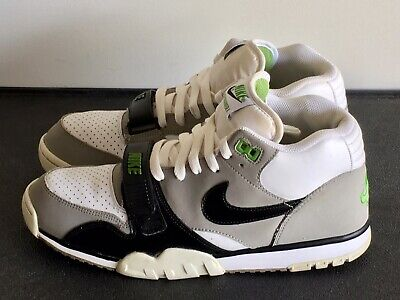 *Preowned* Nike Air Trainer 1 Mid PRM Chlorophyll sz 11.5 White/Grey 317553 100