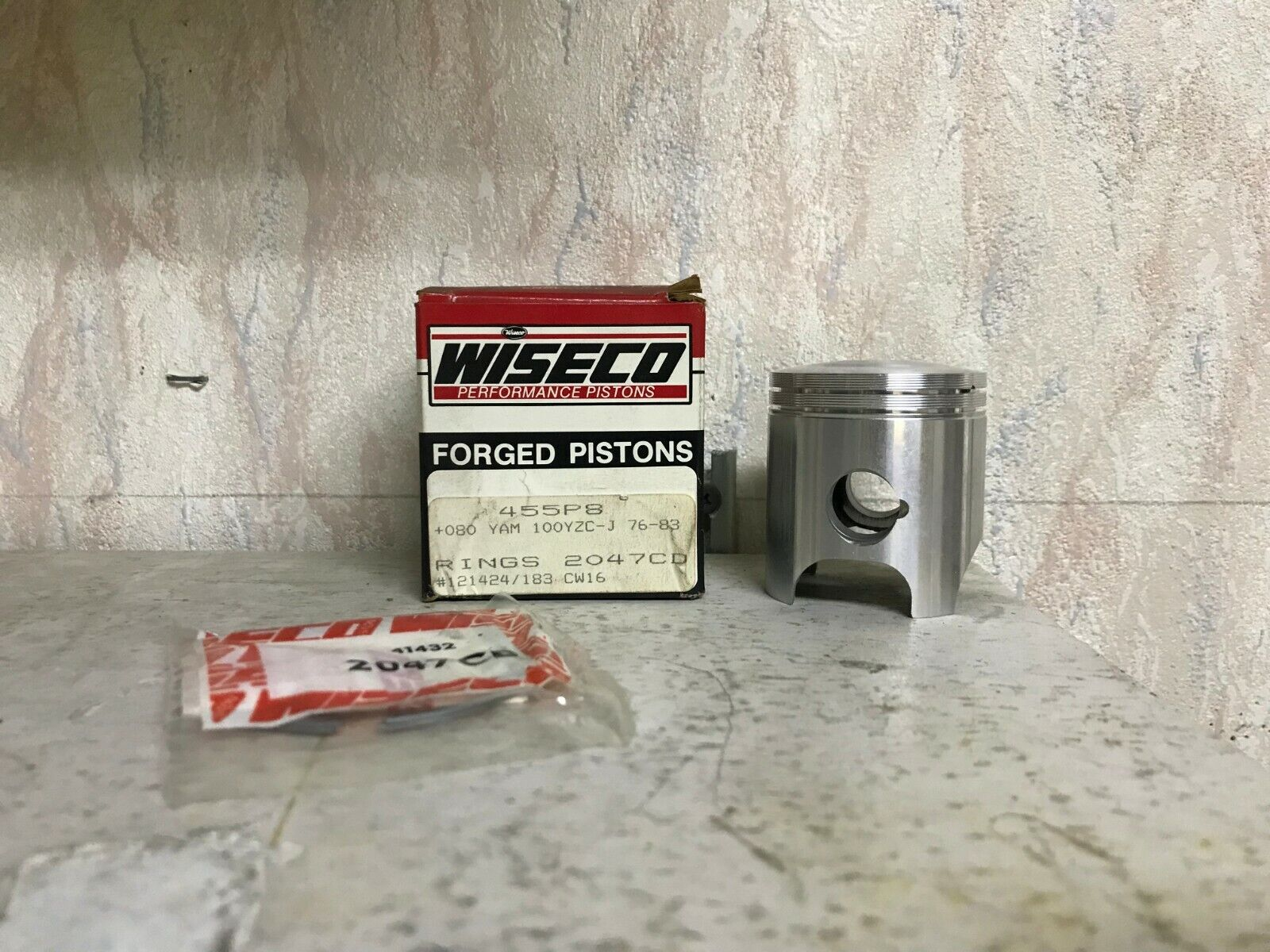 Wiseco Piston 455P8 Yamaha 100YZC-J 1976-83 Vintage