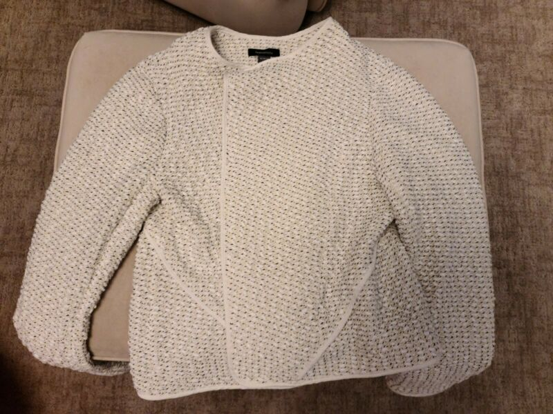 Fashionista For Pea In The Pod Maternity Blazer Tweed Cream M