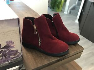Size 40 red ankle boots - never worn