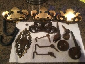Vintage rustic and assorted Furniture Hardware Lot
