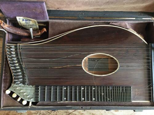 Vintage antique Zither M. NFBEL&SON New York City RARE
