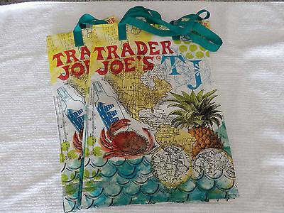 2 TRADER JOE'S JOES NEW ECO REUSABLE SHOPPING GROCERY BAG 6 GALLON FREE SHIPPING