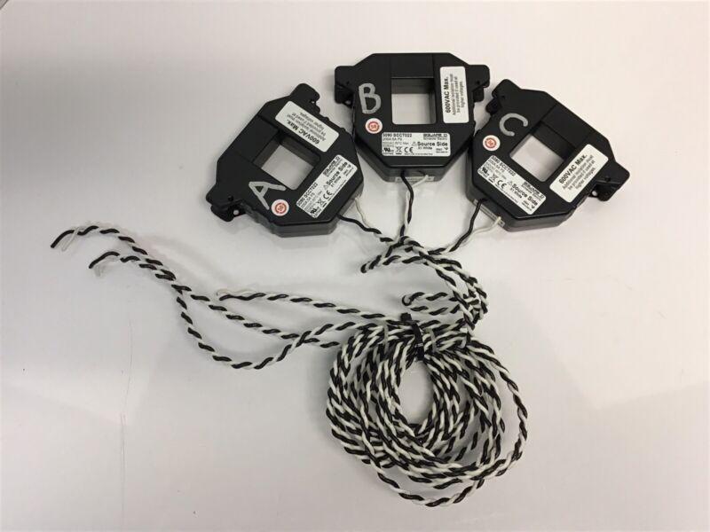 3-Square-D PowerLogic 3090 SCCT022 Split Core Current Sensors 200A:5A FS 600VAC