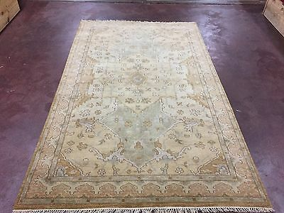 """On Sale Great Deal Hand Knotted Oushak Rug  Carpet Geometric 5x8,4'10""""x7'11"""""""