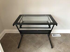 Glass and metal office desk / office table in great condition