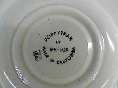 1ea VINTAGE METLOX POPPYTRAIL 6-1/8 GREEN ROOSTER SAUCER EXCELLENT CHINA - $4.99