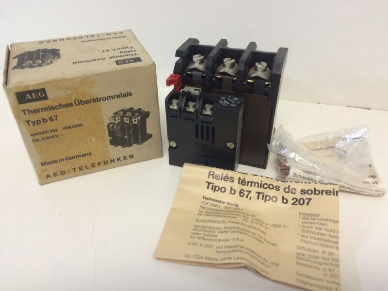 NEW OLD STOCK AEG 42-62A THERMAL OVERLOAD RELAY E-NR 910-341-337-00