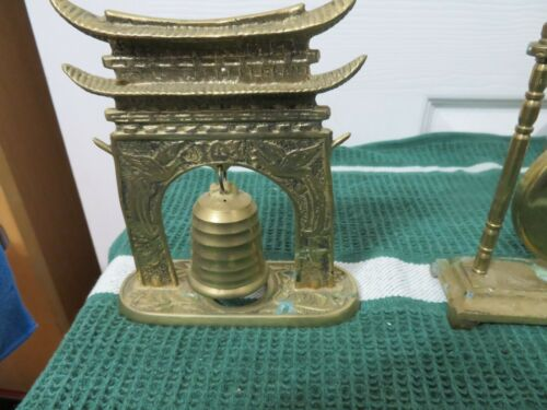 Antique Temple Bell on Pagoda Stand