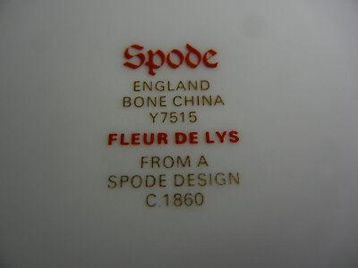 Spode Fleur de Lis Lys Gray Bone China Salad Plate(s)