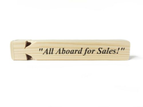 """""""all Aboard For Sales"""" Train Whistle Replica The Office Dunder Mifflin"""