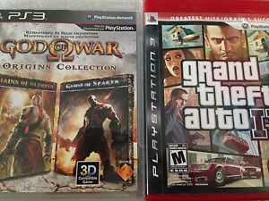 PS3 GTA IV + God of War Collection both for $20 or $15 each