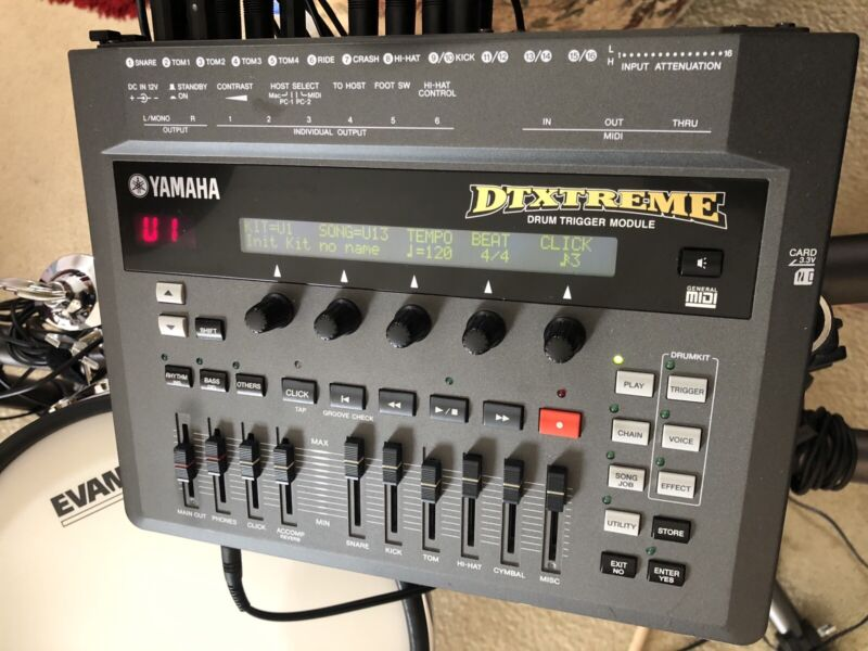 Yamaha DTXTREME Electronic Drum Trigger DTX Module In Great Condition.