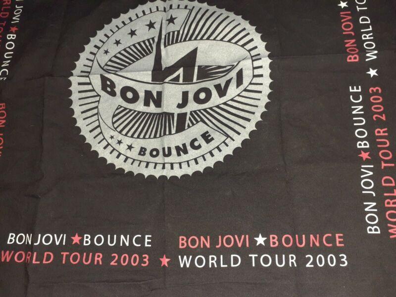"BON JOVI World Tour 2003 ""Bounce Tour"" Flag / Bandana Rare and Unique."
