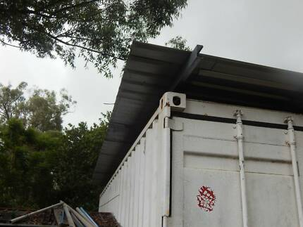 20ft. SHIPPING CONTAINER WITH 3 mt. WIDE GALVANISED ROOF Marsden Logan Area Preview
