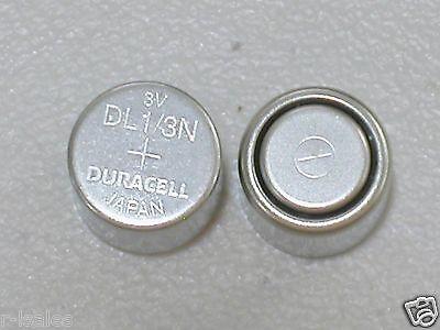 2 DURACELL CR1/3N 3v LITHIUM BATTERY PHOTO DL 1/3N KL76 K58L BULK EXPIRE 2024 ()