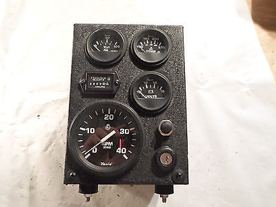 Faris Gauge Set Withhobbs Hour Meter Mounted In Box With Key