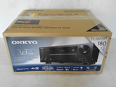 ONKYO TX-NR757 7.2-Channel Network A/V Home Theater Audio Video Receiver 4K New